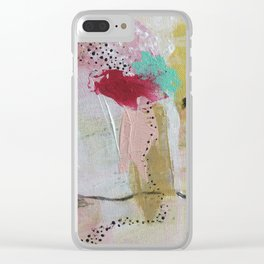 Green love Clear iPhone Case