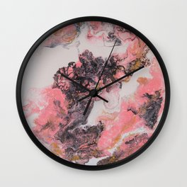 Pink Mess Wall Clock