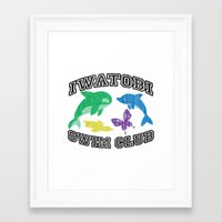iwatobi Framed Art Prints featuring Iwatobi Swim Club by drawn4fans