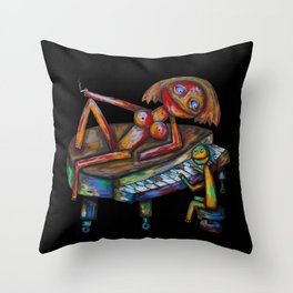 Every morning Jack plays the piano! Throw Pillow