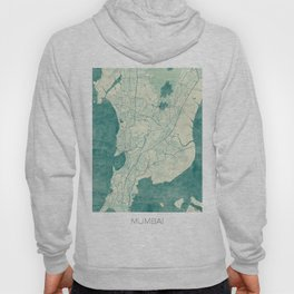 Mumbai Map Blue Vintage Hoody