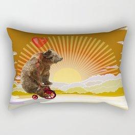 Big Bear with bicycle iPhone 4 4s 5 5s 5c, ipod, ipad, pillow case and tshirt Rectangular Pillow
