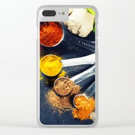 Herbs and spices selection, close up Clear iPhone Case