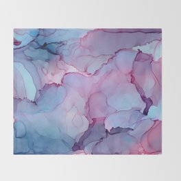 Alcohol Ink - Dreamy Clouds Throw Blanket