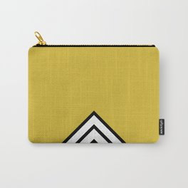 MUSTARD BLACK AND WHITE STRIPES Carry-All Pouch