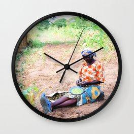 Kenya / Kitui Woman Wall Clock