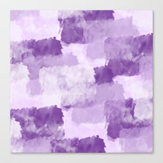 Watercolor Purple Lilac White Abstract Canvas Print