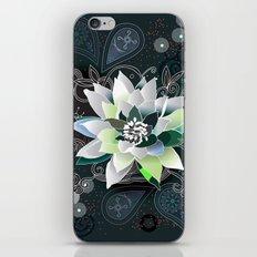 Dark blue and black zentangle inspired waterlily  iPhone & iPod Skin