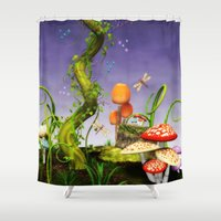 fairytale Shower Curtains featuring fairytale by Ancello