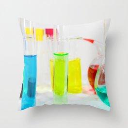 Laboratory chemical liquid elements  Throw Pillow