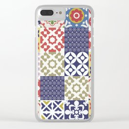 Portuguese pattern color Clear iPhone Case