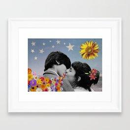 That Kiss Framed Art Print