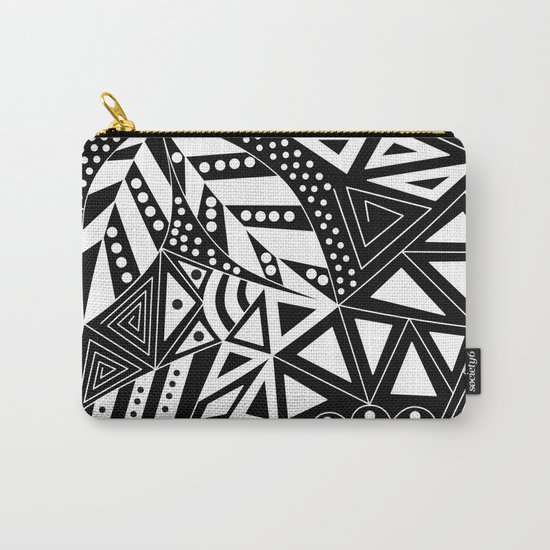 Black and white abstract pattern. 1 Carry-All Pouch