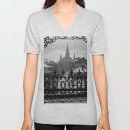 New Orleans 1920s Vintage Photograph from Balcony Unisex V-Neck
