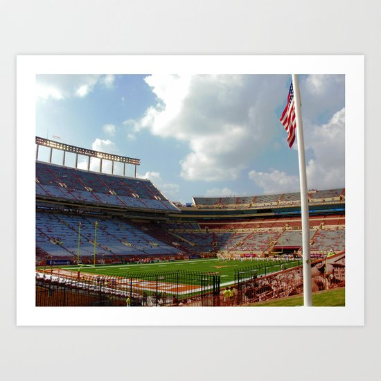 University of Texas Football Art Print