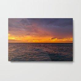 Maldivian Sunset Metal Print