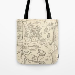 Vintage Map of Hampton Beach NH (1892) Tote Bag