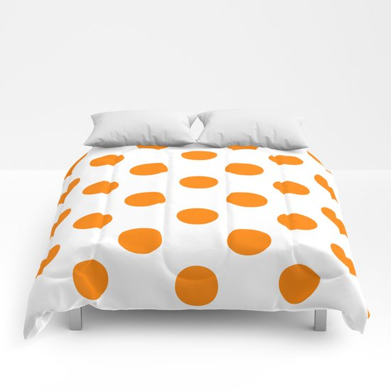 Polka Dots (Orange/White) Comforters