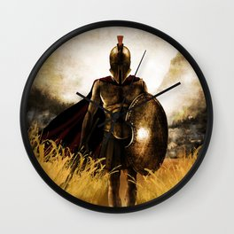 Spartan Warrior Field Wall Clock