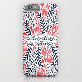 Adventure is Calling – Red & Black Palette iPhone Case