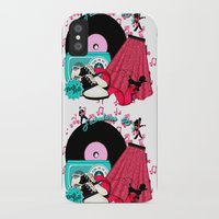 rock n roll iPhone & iPod Cases featuring Rockabilly Rock n Roll by BURPdesigns