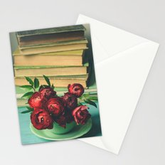 Books and Flowers Stationery Cards