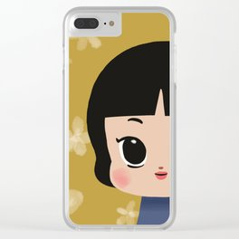 Millie, the pastel yellow Clear iPhone Case