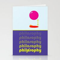 philosophy Stationery Cards featuring [UN] DISCIPLINE: PHILOSOPHY by THEK'art