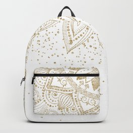 Elegant Gold Mandala Confetti Design Backpack
