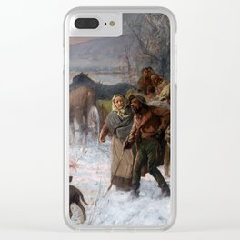Charles T. Webber The Underground Railroad Clear iPhone Case