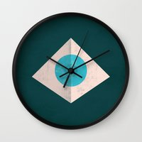1984 Wall Clocks featuring 1984 by Christian Jackson