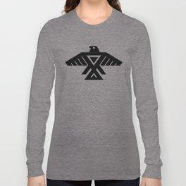 Thunderbird flag - Authentic Hi Def Long Sleeve T-shirt