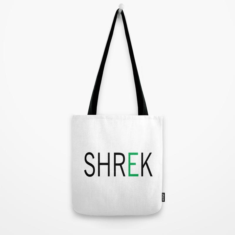 Shrek Tote Bag By Thelettershop Society6