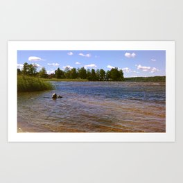 Wave Lake II Art Print