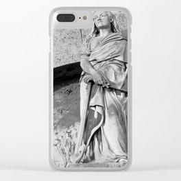 female statue Clear iPhone Case