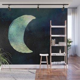 Iridescent Waning Crescent Moon Wall Mural