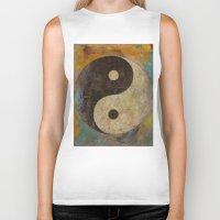 yin yang Biker Tanks featuring Yin Yang by Michael Creese