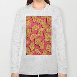 Golden tree leaves pink Long Sleeve T-shirt