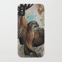 hawk iPhone & iPod Cases featuring Hawk by ChaniMurat