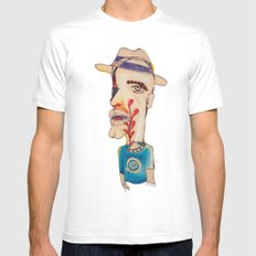 Ronald Harrington / Acrylic and Ink on paper MEDIUM Mens Fitted Tee White