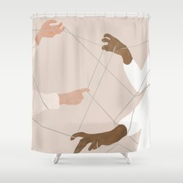 Wired Together Shower Curtain
