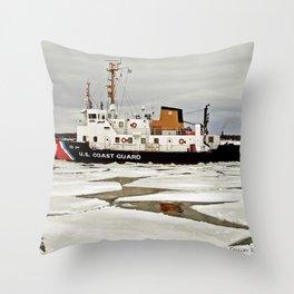 Biscayne Bay USCG Cutter Throw Pillow