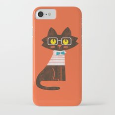 Fitz - Preppy cat iPhone 7 Slim Case