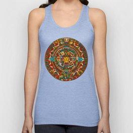 Aztec Mythology Calendar Unisex Tank Top