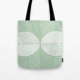 Minimal Tropical Leaves Pastel Green Tote Bag