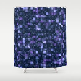 Blue Squares Shower Curtain