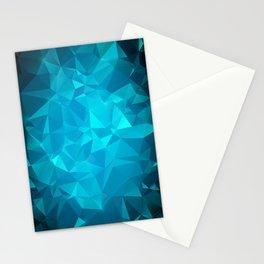Blue Polygonal Mosaic Stationery Cards