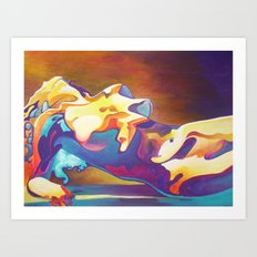 The United Colours of Orgasm Thermal Nude Art Print