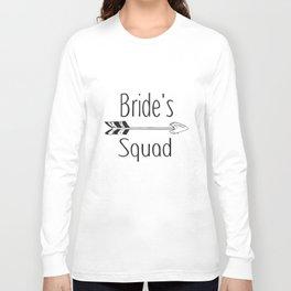 Brides Squad Iron On Transfer Hen Night Squad T-Shirts Long Sleeve T-shirt