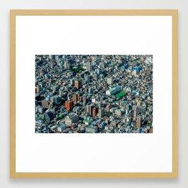 Tokyo like a 3D-isometric game Framed Art Print